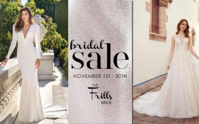 Fall Bridal Sale 2020